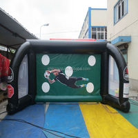 inflatable football picth/ throwing footable game for adult