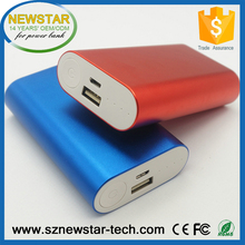 FCC,ROHS certified portable 5200mah metal mobile power bank