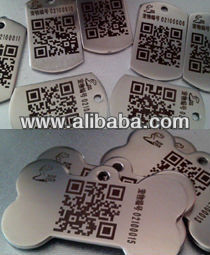 dog tag with QR code