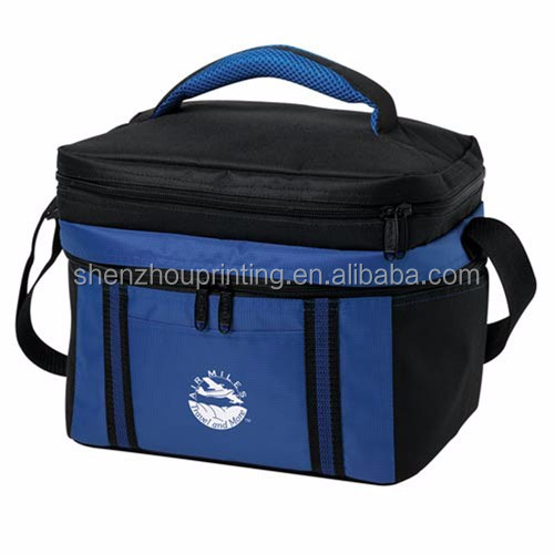 Keep long time temperature large capacity flexible oxford polyester carry handle insulated promotion lunch 600D cooler bag