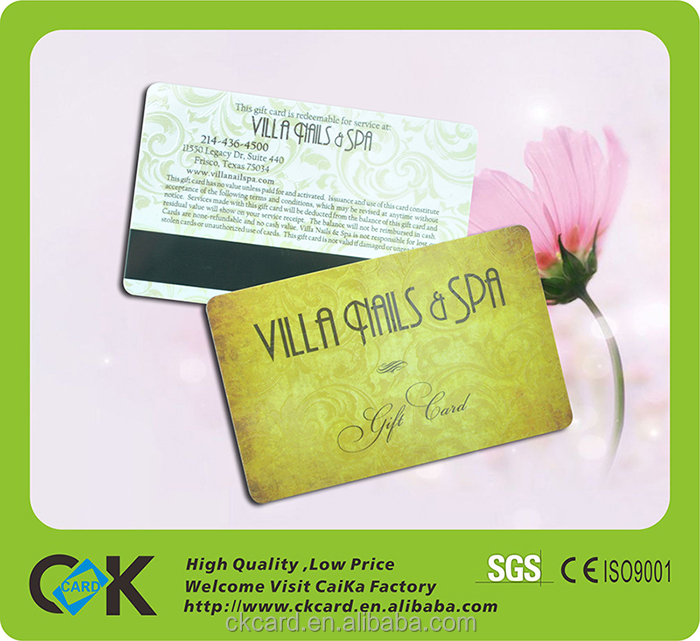 China supplier standard size pvc magnetic membership card