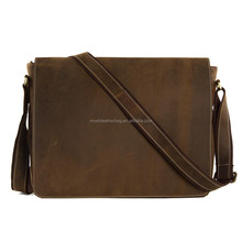 1053 Vintage Satchel Leather Shoulder Crossbody Bag Men Genuine Leather Messenger Bag