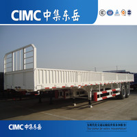 CIMC 3 Axle 60Ton Cargo Trailer with Side Door/Side Wall Semi Trailer