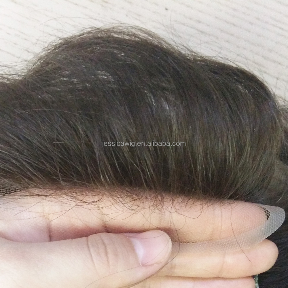 French lace toupee human hair with very natural hairline