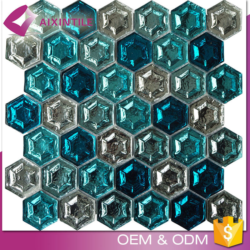 Wholesale Factory Color Mixing Broken Glass Mosaic Tile