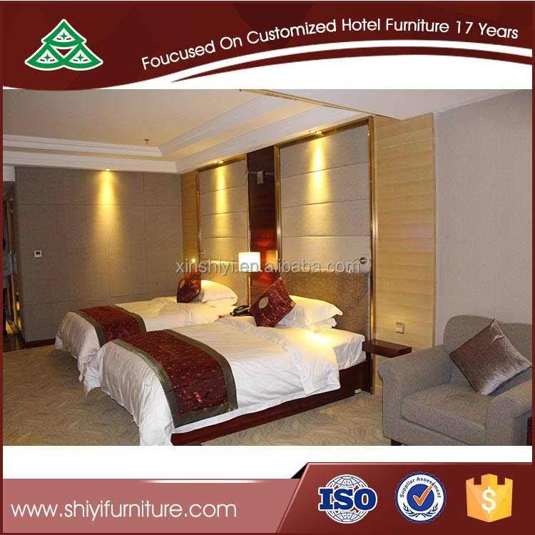 Luxury Hotel Bedroom Philippine Narra Furniture Bed Set Furniture