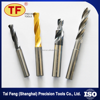 High Efficiency Palabolic Flute Straight Shank Tungsten Carbide HSS Drill for Various Deep Hole Drilling