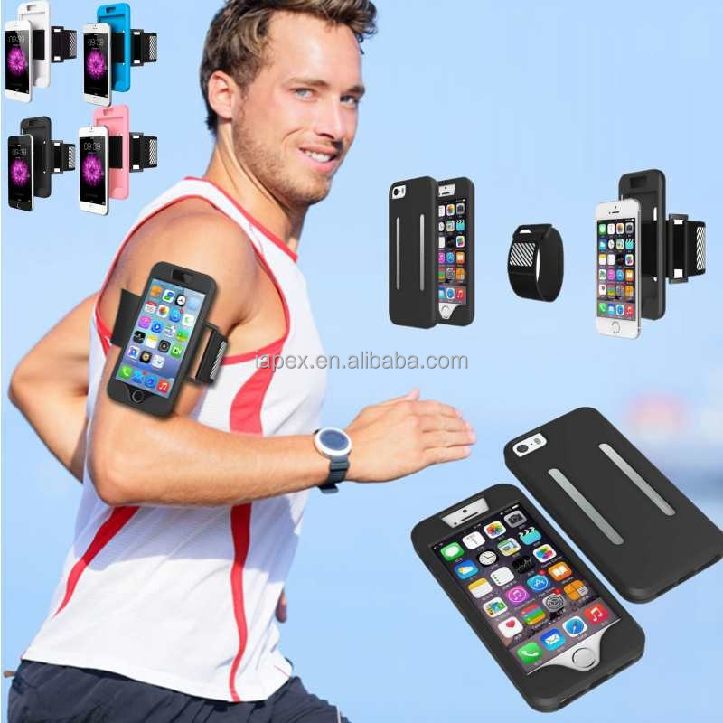 Armband Silicone Case For Iphone 5 5S Sport Running Jogging Belt Wrist Band Strap