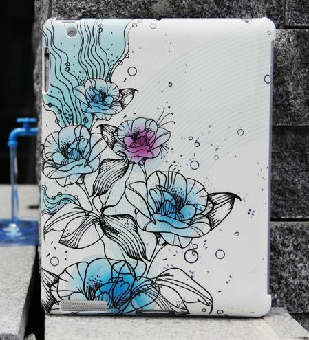 Custom water transfer printing case for apple tablet ipad 4 for sale