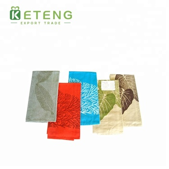 High quality custom 100% polyester printed tea linen kitchen towels
