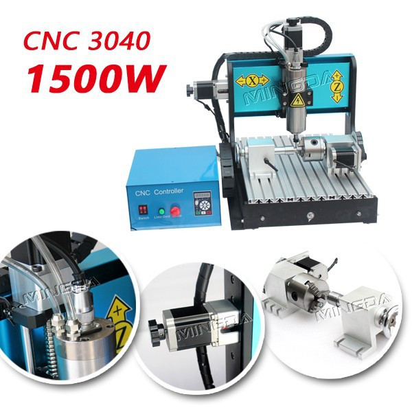 Hot sale hobby cnc wood router machine 3040 Mingda 1500w used desktop cnc engraving machines