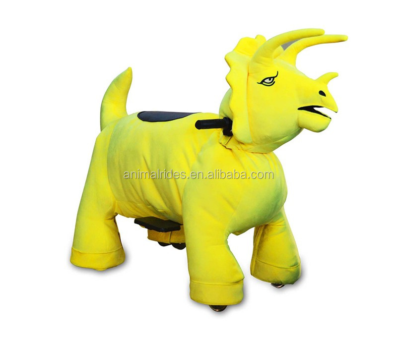 MZ5953 yellow zippy mp4 musical animal ride real steel toys coins gokart for event