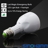 Fashion Outlet 6W E27 Energy Saving LED Light Rechargeable Emergency Bulb Flashlight Cool White
