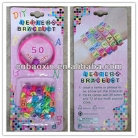 Wholesale Rubber Bands Kit DIY Letters Bracelet With 50 Beads