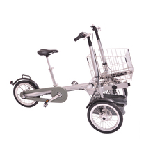 Three wheel disc brake baby stroller bike