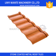 Worldwide popular China Factory supply terracotta sand coated metal roof sheet