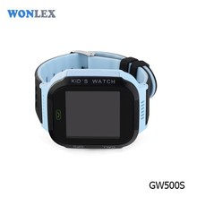 Blue gps watch mobile phone for girls 1.44 IPS touch screen with light
