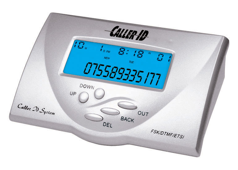 High quality DTMF/FSK Caller ID Box with 2 lines caller id display