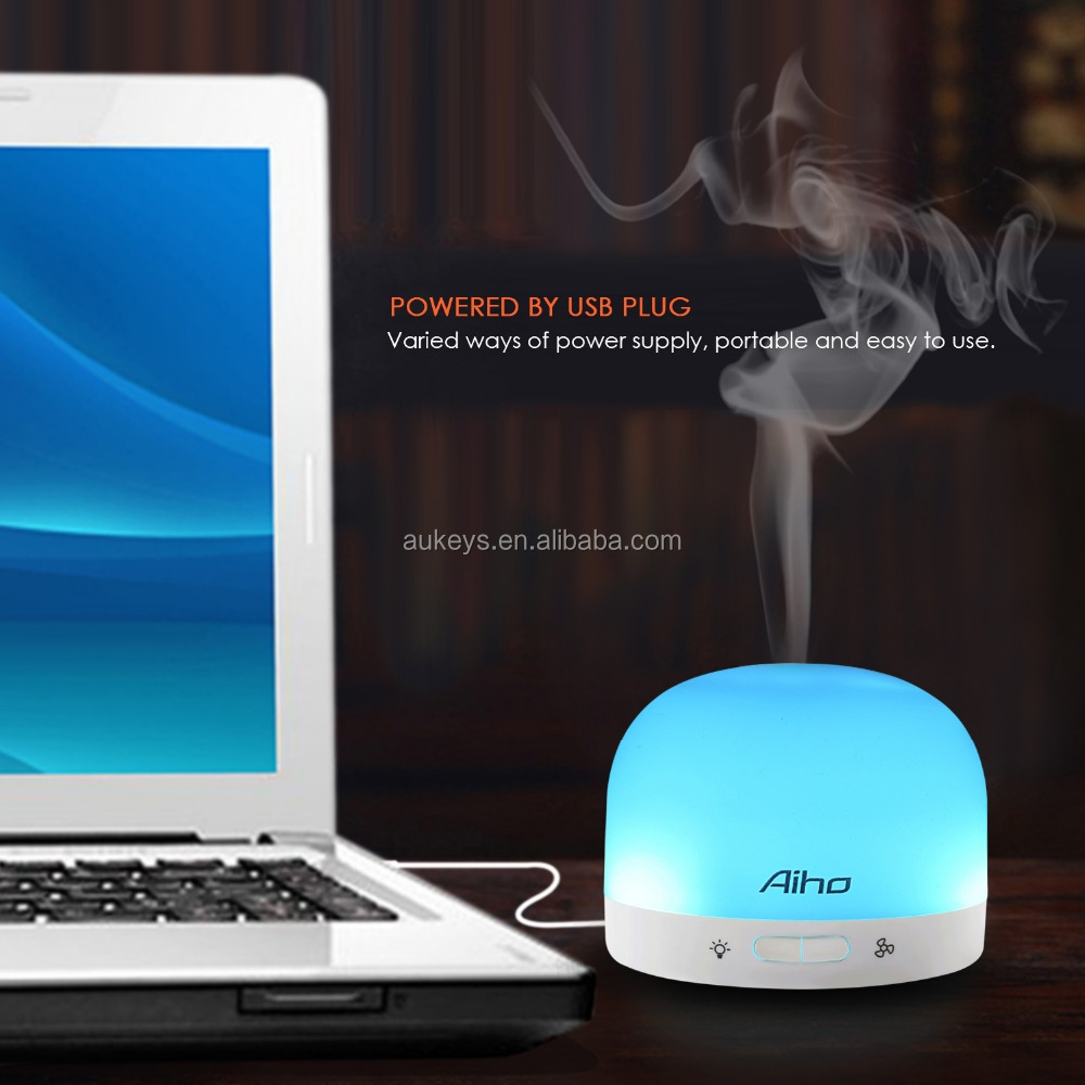 High quality Electric Ultrasonic Essential oil diffuser , mini humidifier suitable for essential