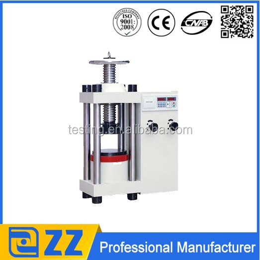 2000KN concrete cement brick building material testing equipment/compression testing machine/compression tester