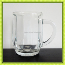 Libbey Beer Mug Glass with Inside Visible Stripes.