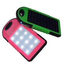 Best Selling Universal Mini solar panel battery, waterproof solar power bank with super led light