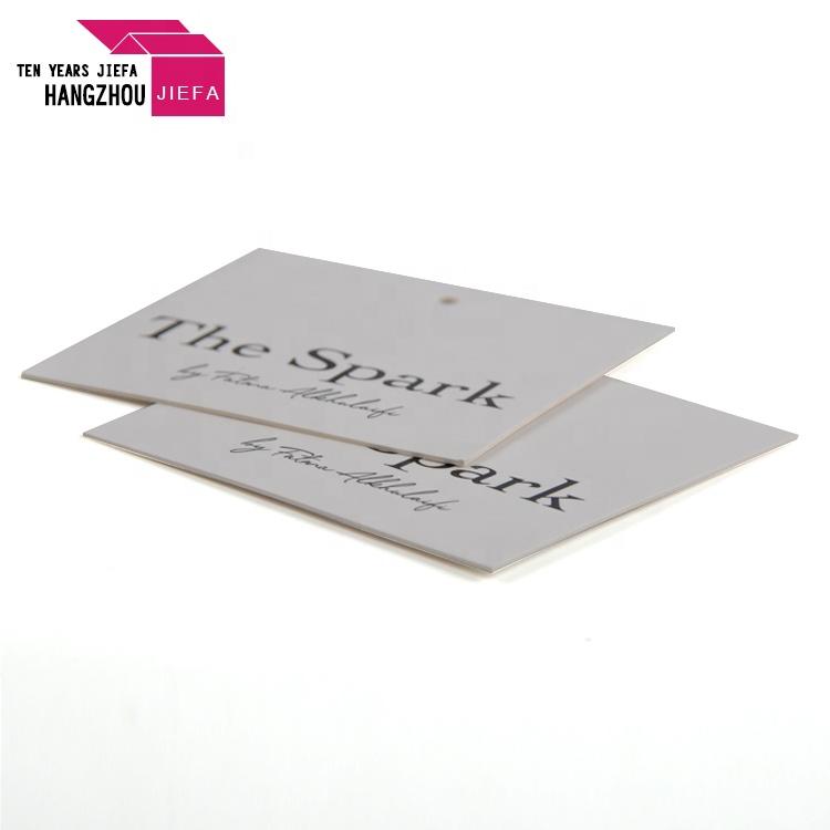 White Card Custom Logo Paper Hang Tag for Garment