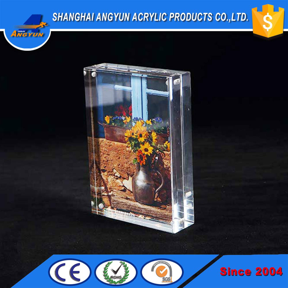 customized design acrylic photo frame clear acrylic picture photo frame with magnets
