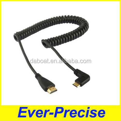 Extension 26AWG USB coiled cable to India market