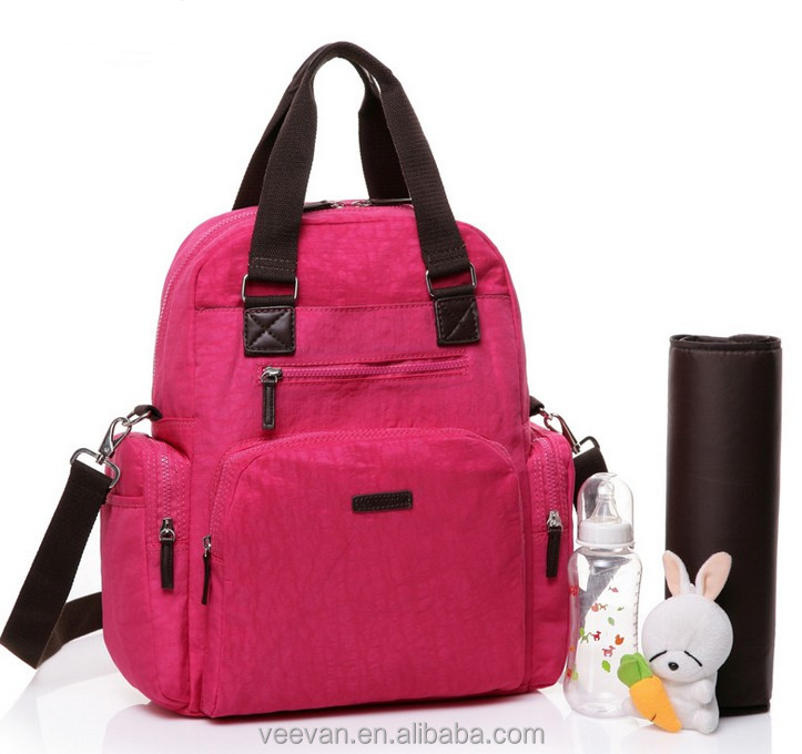 2017 Latest Waterproof multi-purpose diaper backpack bags fashion baby and mommy diaper shoulder bags supplier