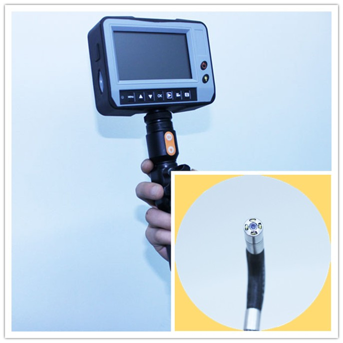 3mm industrial video endoscope with 2ways articulation camera