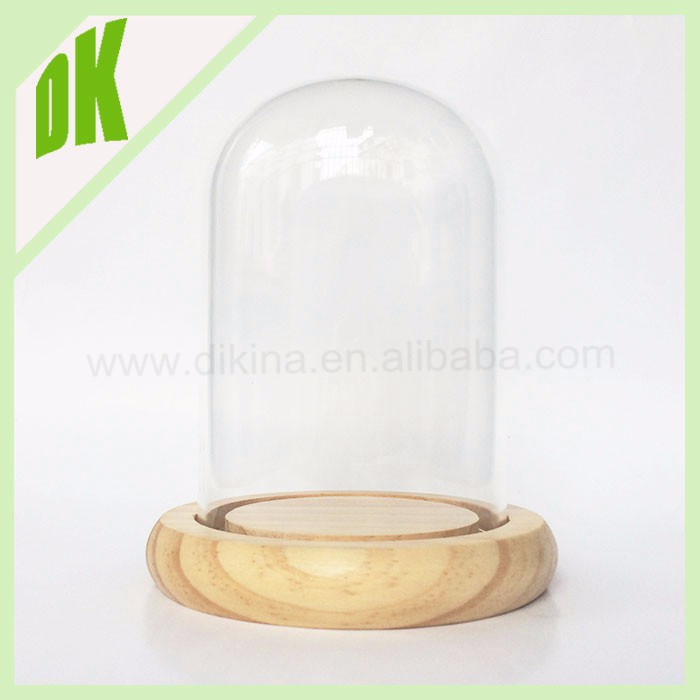 Personalized Dish, Custom jewelry Stand/ cover/ holder/ case/ container, Wedding Birthday Gift Mini wooden base glass cake dome