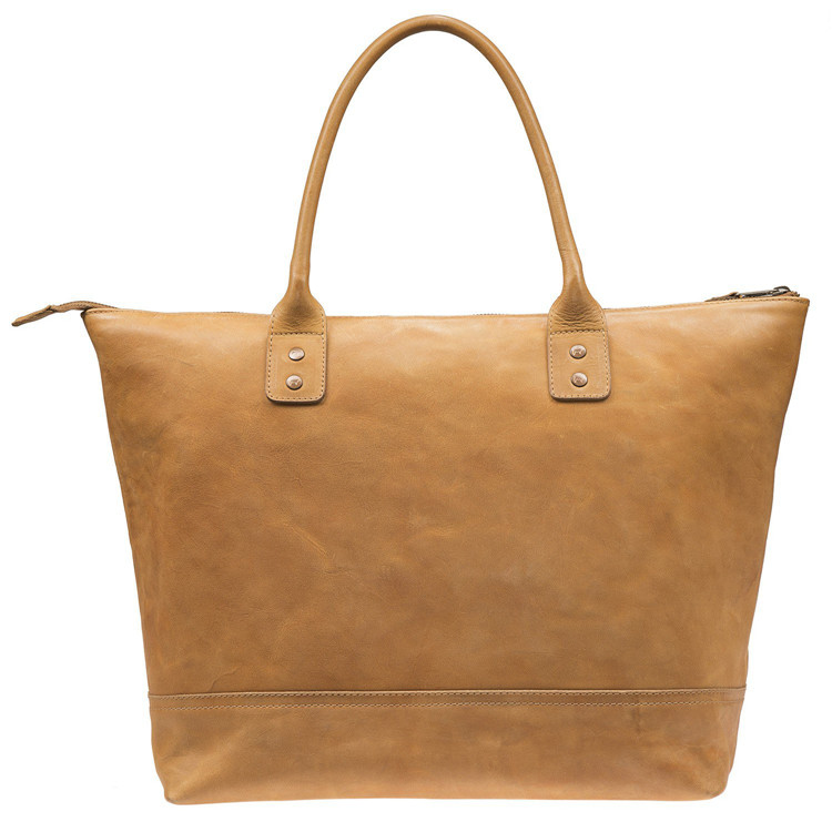 Vegetable Tanned Leather Tote Bag for Women / Luxury Leather Bags / Custom Leather Handbag Manufaturer