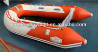 Aluminum floor inflatable boat/V shape bottom inflatable boat