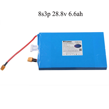 28.8v 6.6ah Rechargeable 18650 li-ion battery solar storage