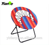 2016 hot sale fashion outdoor bungee chair metal tube folding round camping chair