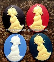 fashion wholesale resin cameos, resin pray baby, resin angel