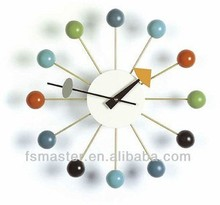 Fashion home wooden ball clock decorative wall clock