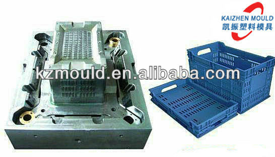 European style plastic folding container mould manufature