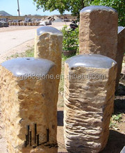 Custom Garden Fence Basalt Fence Decorative Garden Stone Pillar
