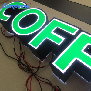 LED Epoxy Resin Tooling Made Front-lit Signs for cafe shop and restaurant Roll Away Letter Signs