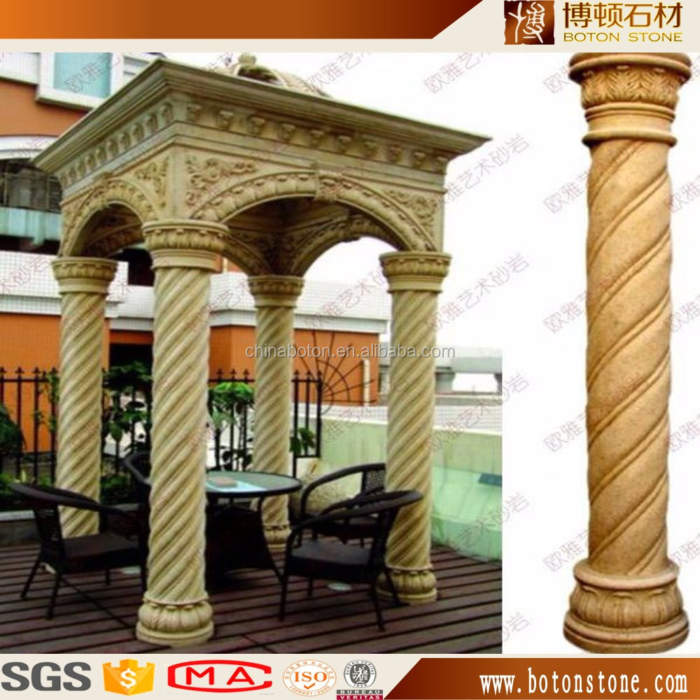 artifical stone column , natural marble column roman