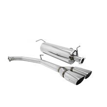 High quality 304 stainless steel tail silencer pros exhaust pipe