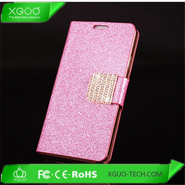 hot sale shinning flip diamond bling leather case for samsung galaxy s4 i9500