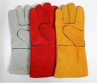 Leather welding gloves labor welding gloves industrial high temperature resistant gloves on the second floor