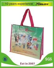 fashion recycled tote laminated pp woven shopping bag
