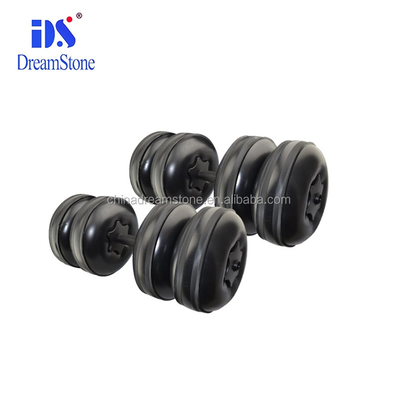 Top quality Eco-Friendly PP plastic gym equipment portable weight fitness water filled dumbbell set with ajustable 20-26KG