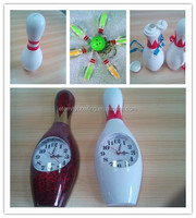 promotion bowling gift bowling clock, bottle opener keychain with metal key ring