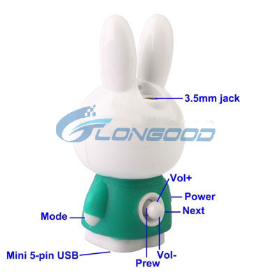 2013 Fasionable Cute Animal Shaped MP3 Player Mini MP3 Player