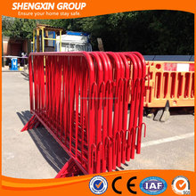Hot-dipped galvanized pedestrian crowd control barrier